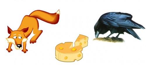 """El cuervo y la raposa """"zorra"""""""