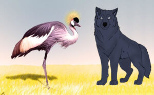 El lobo y la grulla
