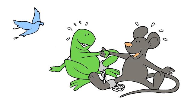 El ratón, la rana y el milano