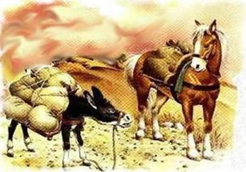 El caballo y el asno - Fábulas de Esopo