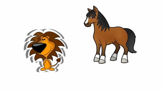 El caballo y el león - Fábulas de Esopo