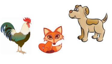 La zorra, el gallo y los perros - Fábulas de Esopo