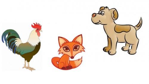 La zorra, el gallo y los perros | Fábulas de Esopo