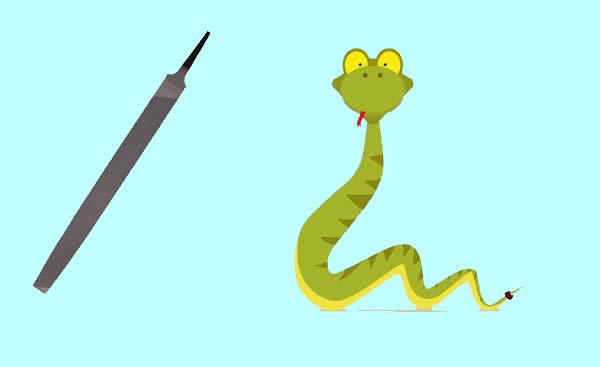 La víbora y la lima - Fábulas de Esopo