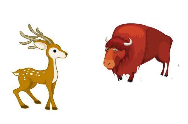 El ciervo y el buey - Fábulas de esopo