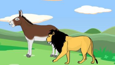El borrico y el león - fábulas de esopo