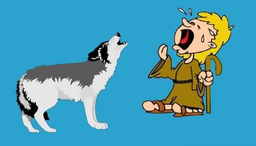 El lobo y los pastores - Fábulas de Esopo