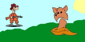 La zorra y los cazadores - fábulas de esopo