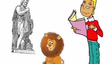 El hombre y el león - Fábulas de Esopo