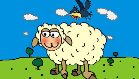 La corneja y la oveja - fábulas de esopo