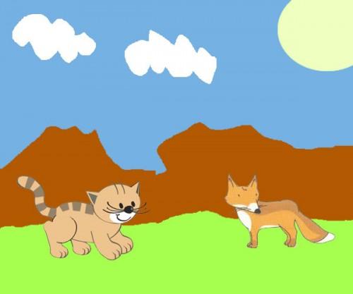 La raposa y el gato - Fábulas de Esopo