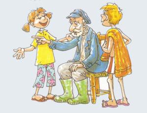 El viejo y sus hijos - Fábulas de Esopo