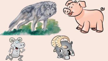 El lobo y el presagio - fábulas de esopo con moraleja